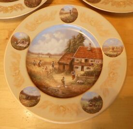 6 Commemorative Seltmann Finest Porcelain Plates all with issue no. Amazing detail