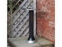 Garden table with halogen heater