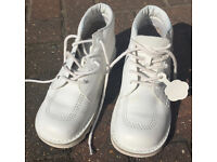 RARE Kickers White shoes with Gemstones Size 40