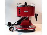 Red Delonghi Icona Pump Espresso Coffee Maker