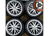 """17"""" Genuine 5x112 Seat Leon alloys Golf Caddy good cond with tyres"""
