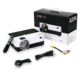 GEARGO Projector (BRAND NEW) 2800 Lumens HD Video, Portable, Compatible with Amazon fire stick