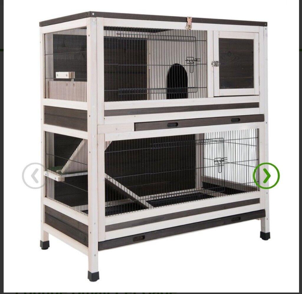 Two level indoor rabbit hutch