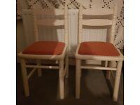 Children's White Wooden Chairs