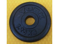 Weights for 1 inch pole - 1.25KG Cast Iron - good condition