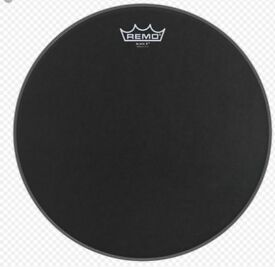 "10"" Black Suede drum head"