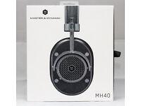 Master & Dynamic MH40 Over-Ear Headphones Gunmetal / Black Leather