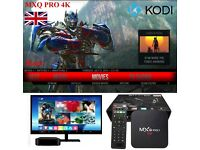 MXQ Pro Smart Android tv Box Fully loaded Kodi 16.1 Beast build Movies TV shows Sports
