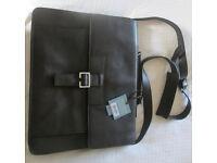 Hidesign brown leather laptop PC bag