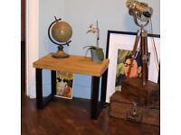 Industrial Square Leg Side Table End Table Coffee Table