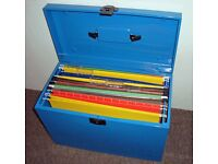 3x FILING BOXES, lockable cases with file inserts. Excellent and great storage !