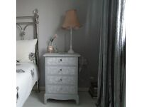 Shabby Chic Lace Rose Effect Stag Bedside Table £125 OR Nearest Offer