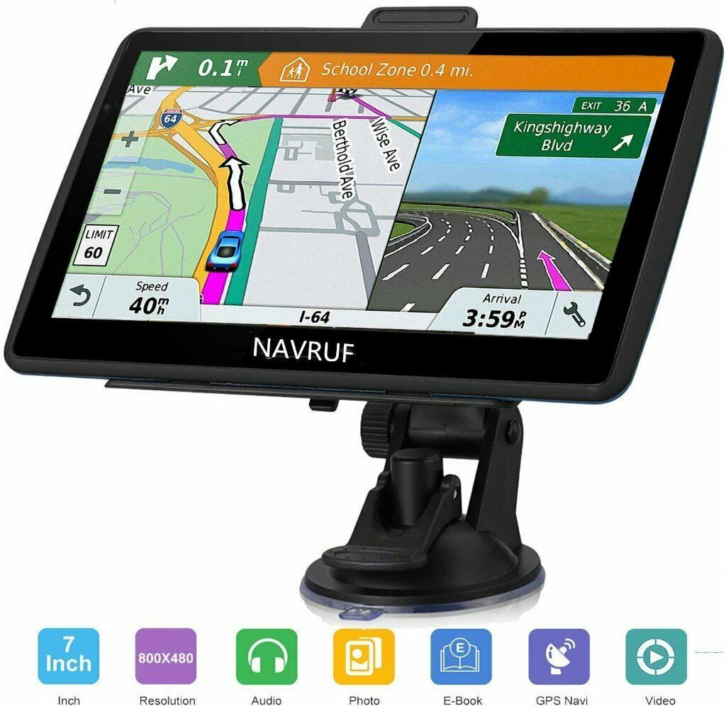 7 inch Sunshade 8GB 256MB Jimwey Car Truck Lorry Satellite Navigator Device with Post Code POI Search Speed Camera Alerts with UK/&EU 2019 Maps Lifetime Free Update SAT NAV GPS Navigation System