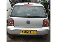 2003 - Seat Arosa - Petrol - BREAKING for SPARE PARTS