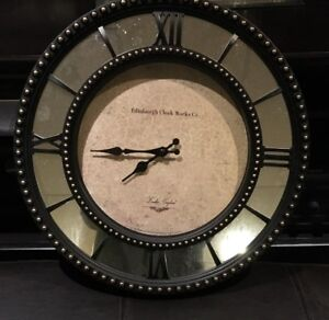 Decorative wall clock with mirror