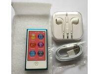 New - Apple iPod Nano 7th gen - 16GB - blue