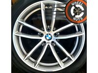 """18"""" Genuine BMW 5 series G30 M Sport alloys Audi A4 A6 staggered, excel cond, Pirelli tyres."""