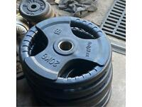 2x20kg bodymax rubber olympic weights