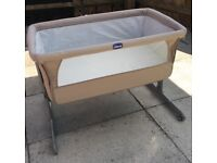 **SOLD** Chicco Next to me: side sleeping crib.