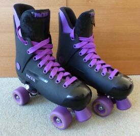 Quad Roller Skates, black and purple, SIZE 40 (6½)