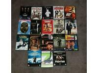 18 DVD's inc. 2 BLU RAY's & 2 trilogies
