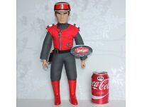 """Large CAPTAIN SCARLET Soft Doll 15"""" Tall Action Figure Complete with GUN & TAGS"""