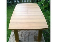 Ex-display Large Chunky Oak Finish Dining Table.