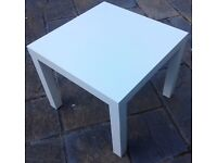 WHITE SIDE TABLE.55cm x 35cm.in top condition.Legs can be removed. £ 6.00Read details