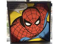 Large Spider-Man canvas wall art
