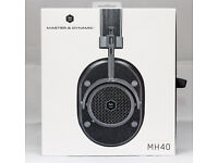 Master & Dynamic MH40 Over-Ear Headphones Gunmetal / Black Leather