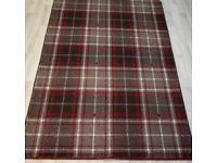 Tartan Wilton Woven Backing Brown/Red Rug 240 x 150 cm 100% Polypropylene