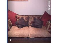 3 seater and 2 seater part leather sofa's