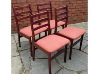 4 wooden dining chairs. in good clean condition