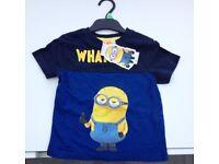 Kids Minion T-shirt (brand new) size 3-4 years