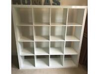 Ikea Kallax Expedit 4x4 Gloss White unit, very good condition