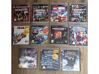 A collection of ps3 games in a very good condition.
