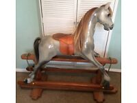 51 inch hand crafted wooden rocking horse