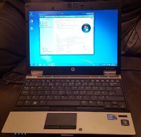 "HP EliteBook 2540p, i7 2.13GHz, HDD 160GB, 6GB RAM, 12.1"" Screen, Windows 10 Pro."