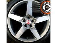 """18"""" Genuine Jaguar XE Alloys WINTER TYRES Ford Mondeo staggered."""