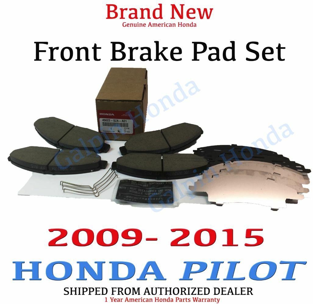 Genuine OEM Honda Pilot Front Brake Pad Set 2009-2015 (45022-SZA-A01)