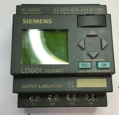 Siemens Logo 1224rc 24vdc 240v 10a Processor