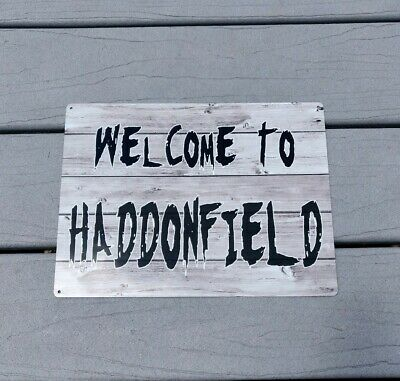 WELCOME TO HADDONFIELD (Michael Myers) Halloween Horror Metal Sign 9x12