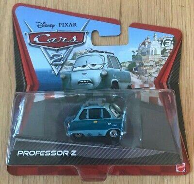 Disney Pixar Cars 2 Professor Z Short Card - New In Box