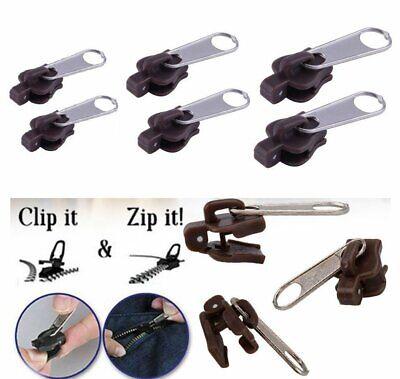6pcs Removable Zipper Repair Kit Instant Fix Replacement Fix A Zipper Zip Slider Closures & Connectors