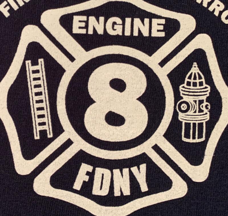 FDNY NYC Fire Department New York City T-shirt Sz XL Engine 8 Manhattan New
