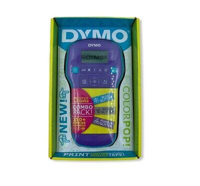 Dymo Colorpop Combo Pack Label Maker 2056115 Plus 3 Color Tapes