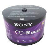 50 SONY Blank Music CD-R CDR Branded 80min Digital Audio Media Disc