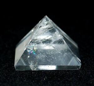REIKI ENERGY CHARGED BRAZILIAN CLEAR QUARTZ PYRAMID NATURAL CRYSTAL