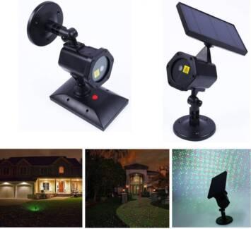 Outdoor Waterproof Solar Powered RG Laser Projector Light Xmas