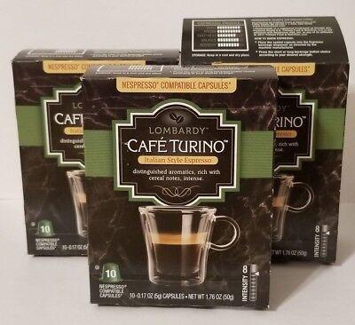Lot of 30 Cafe Turino Lombardy Italian Style Espresso Nespresso Best By